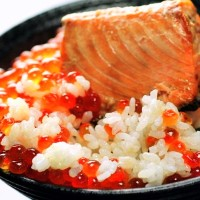 鮭の焼漬といくら醤油漬